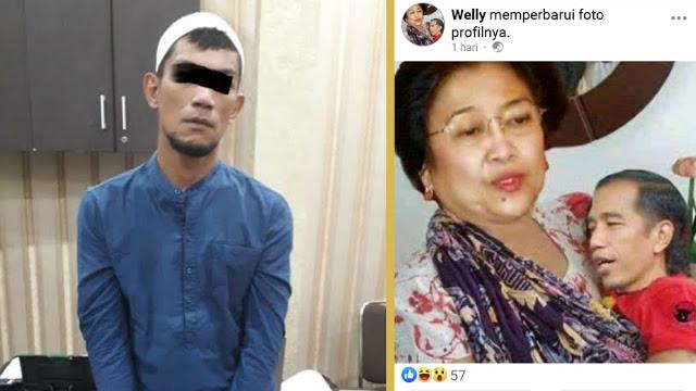 Unggah Meme Megawati Gendong Jokowi, Ketua FPI di SUMUT Ditangkap Polisi